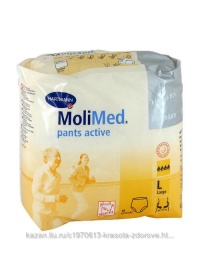 MoliMed Pants Active-Трусы впит L 10шт