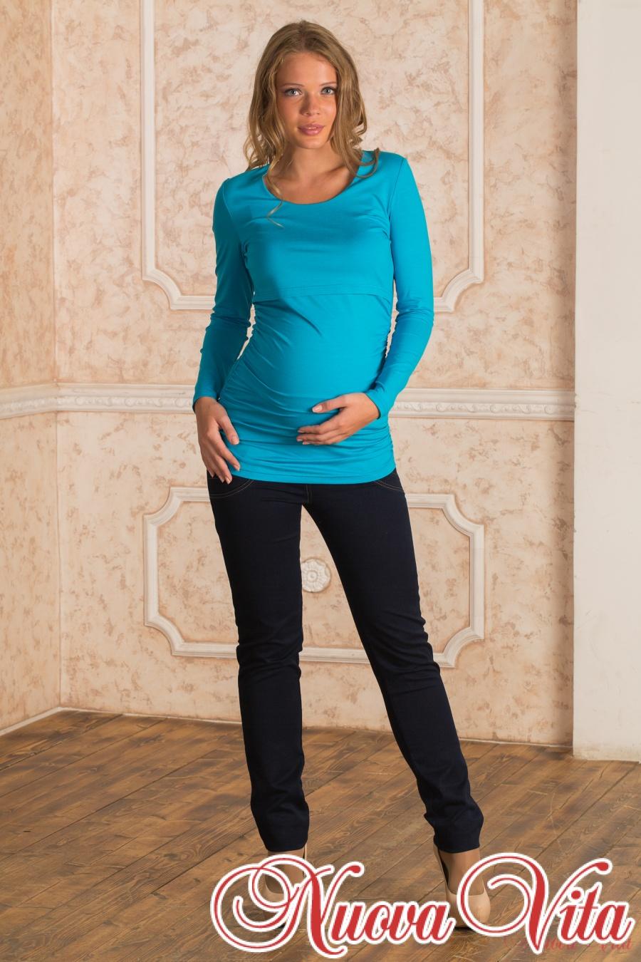 Блуза сборка для беременных и кормящих мам - Nuova Vita Оптовый ... f06efde085c