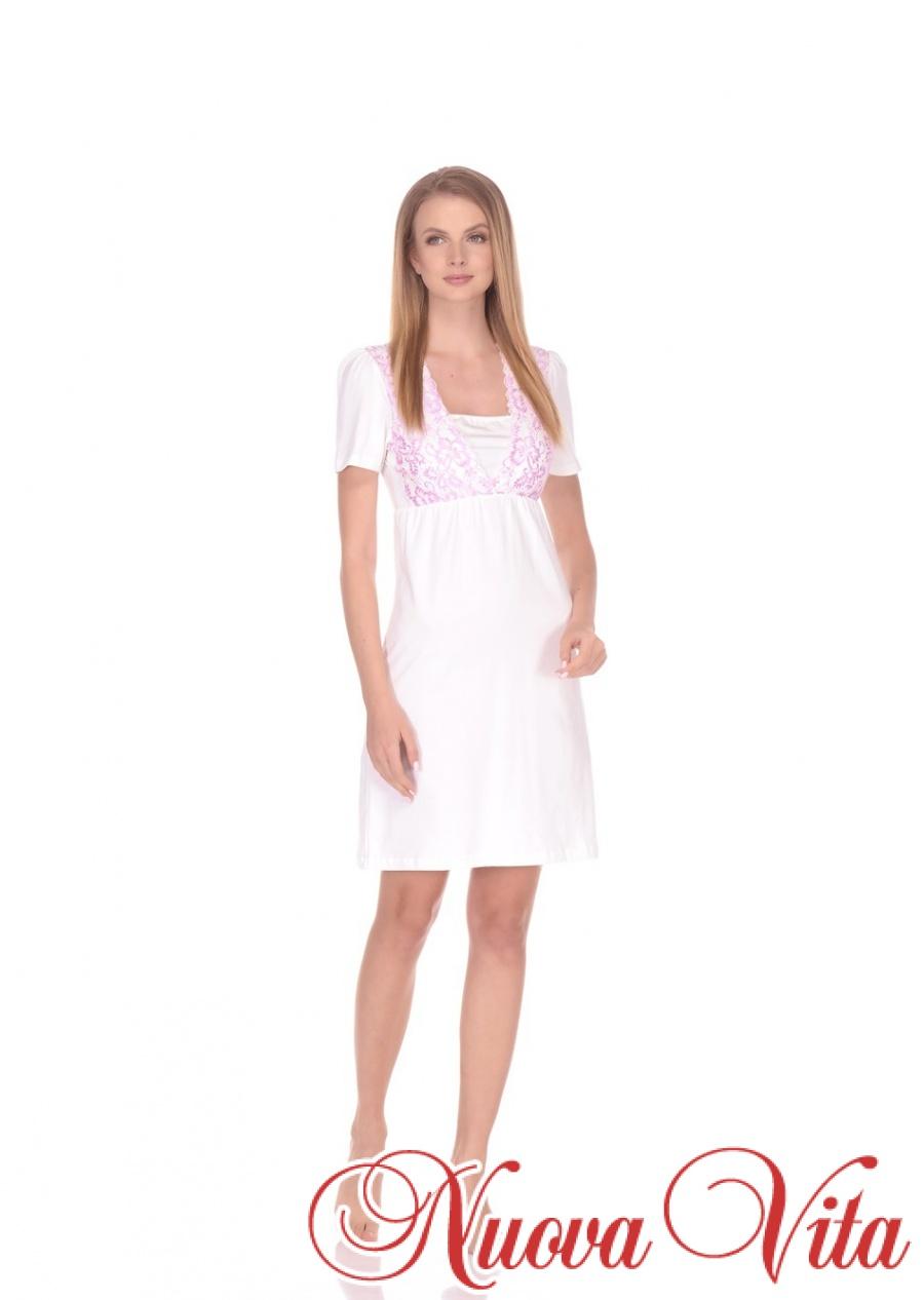 f2a34180435b Ночная сорочка для беременных и для кормления - Nuova Vita Оптовый ...